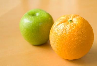 Apple to orange comparison