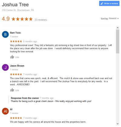 Joshua Tree Reviews