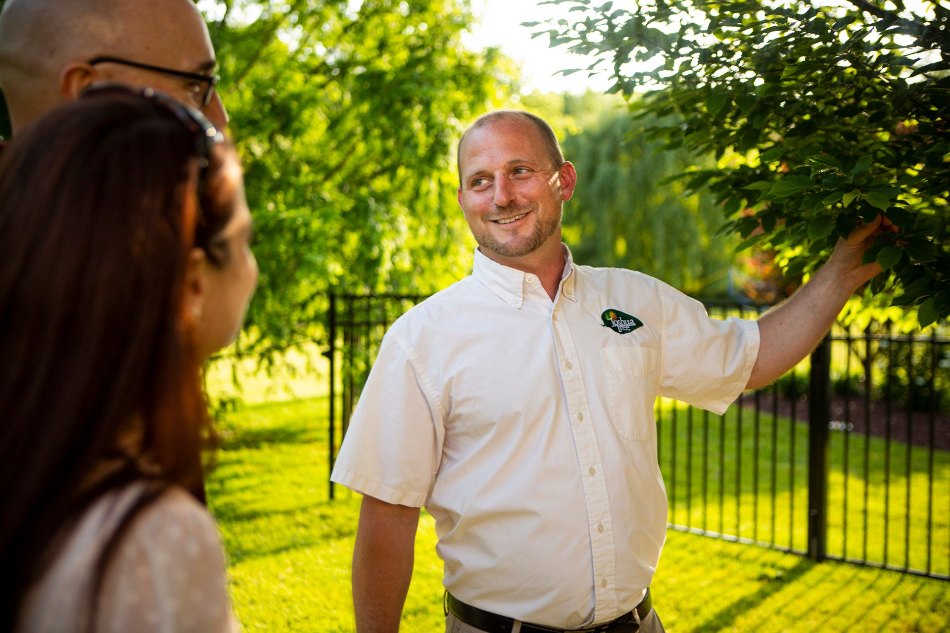 Joshua Tree lawn care and landscape employee
