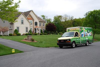 Joshua Tree lawn care services truck in Lehigh Valley, PA