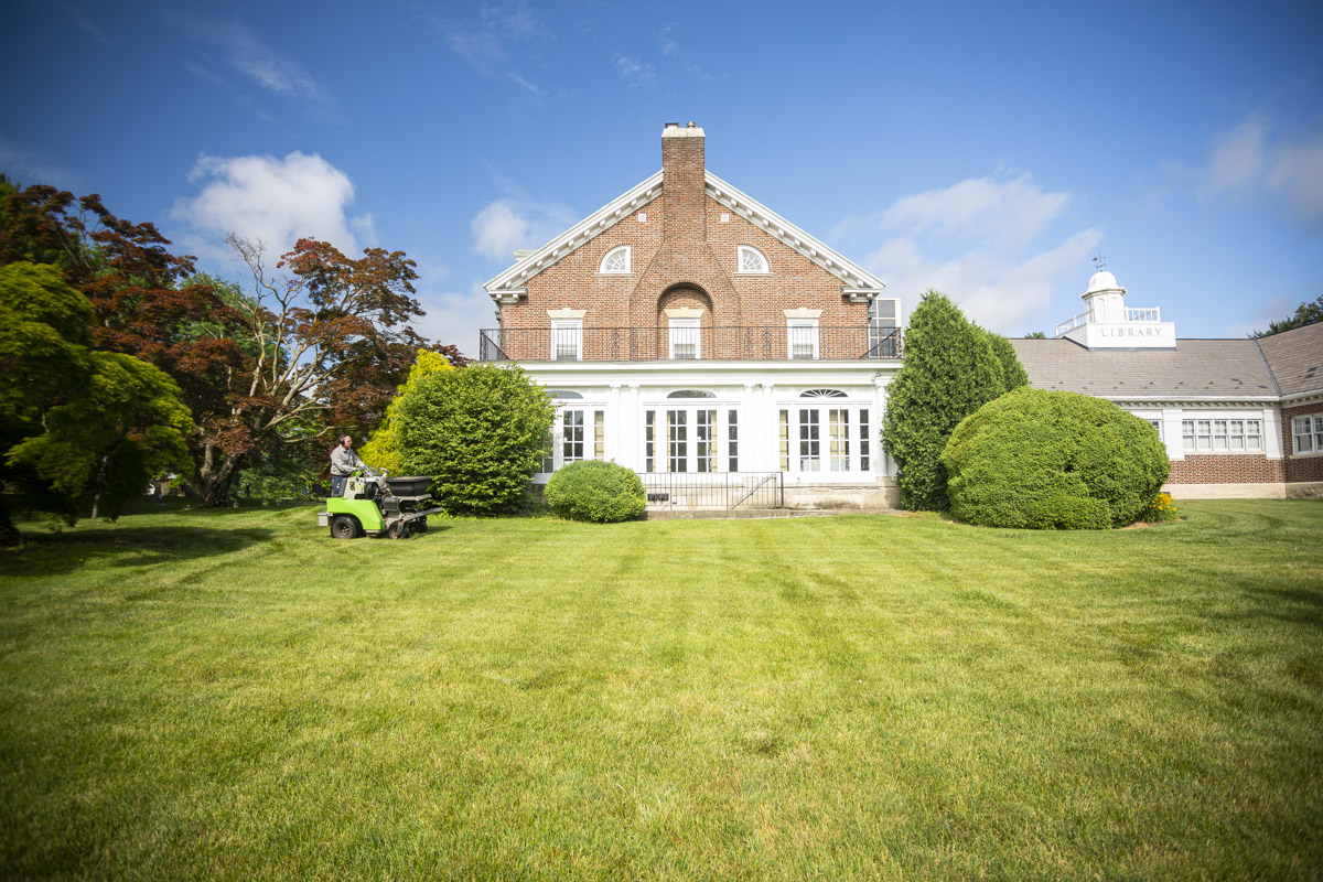 Large lawn with lawn care in Lansdale, PA