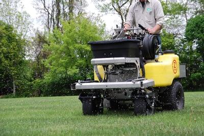 lawn being fertilized in Allentown, PA