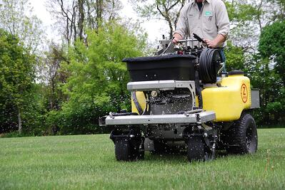 Lawn care fertilizer application