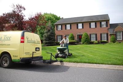 Joshua Tree lawn care truck