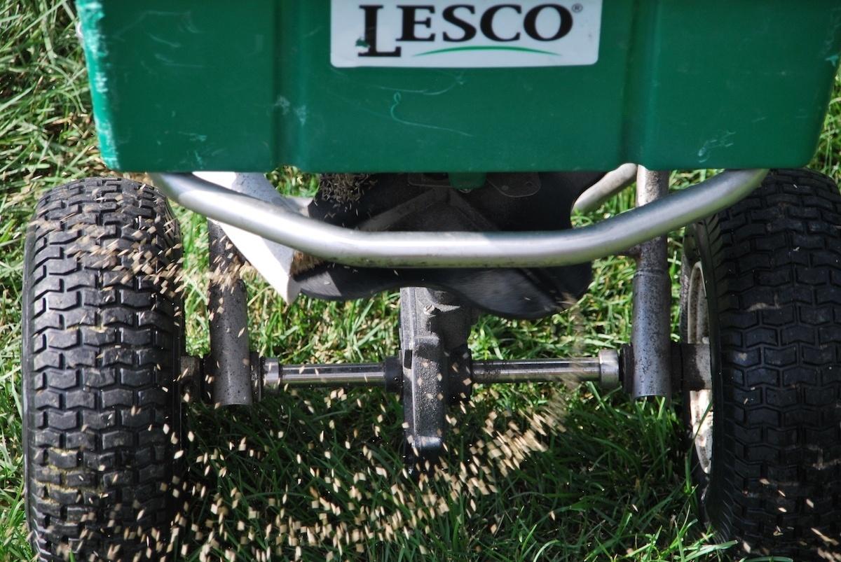 walk behind lawn seeding service