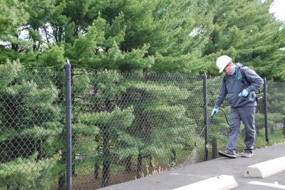 Vegetation management services on commercial property