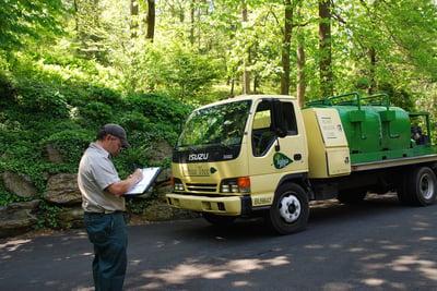 Joshua Tree tree care technician and truck