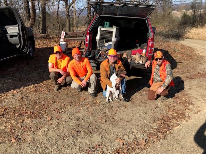 Joshua Tree team members enjoying a pheasant hunt