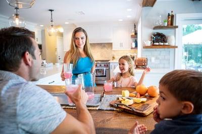 interior pest control allentown bethlehem easton pa - family around kitchen